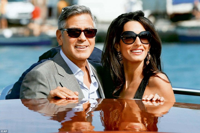 Джордж и Амаль. Фото с сайта dailymail.co.uk