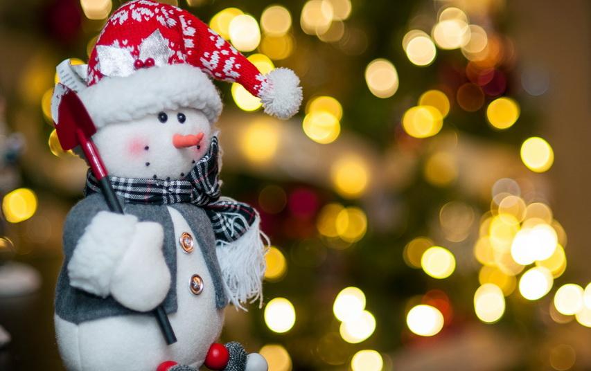 Снеговик. Фото с сайта 1zoom.ru