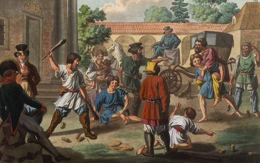 Игра в городки в XIX веке. Фото с сайта livejournal.com