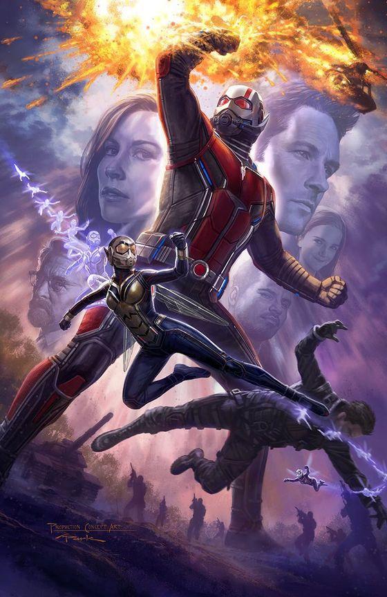 Тизерный постер фильма «Человек-муравей и Оса»