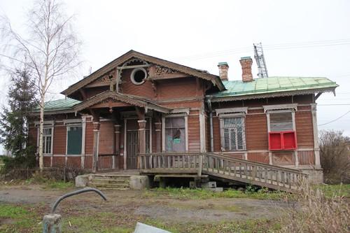Вокзал станции Войсковицы, Октябрьская железная дорога. Не сохранился. Фотограф А. Машинистов