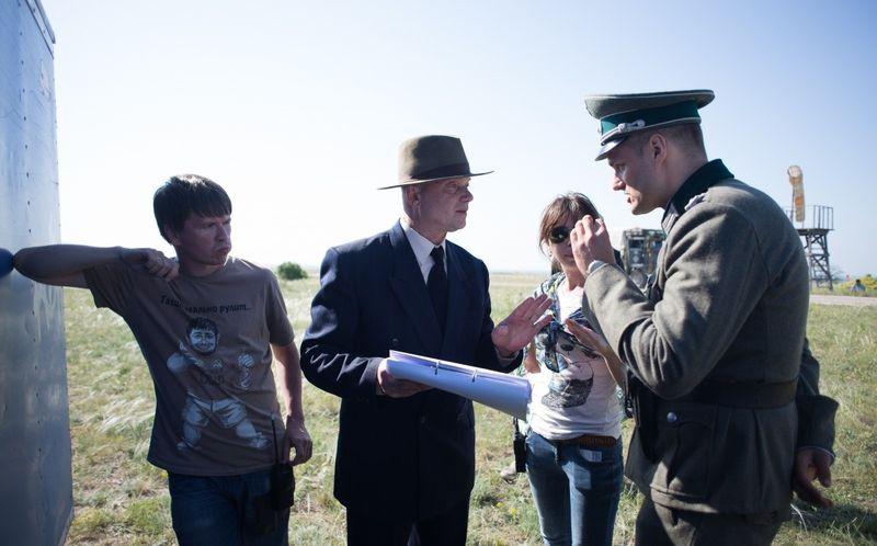 На съемках фильма «Учитель». Фото с сайта kinopoisk.ru