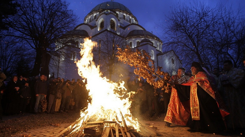 Рождественский костер. Фото с сайта jutarnji.hr