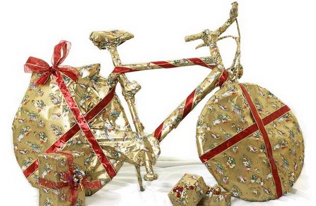 Упакованный велосипед. Фото с сайта vk.com