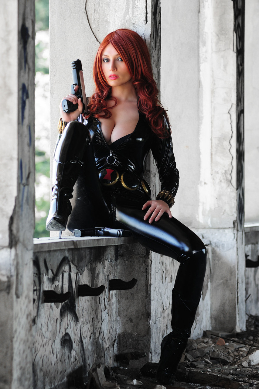 Black widow hot naked cosplay nude image