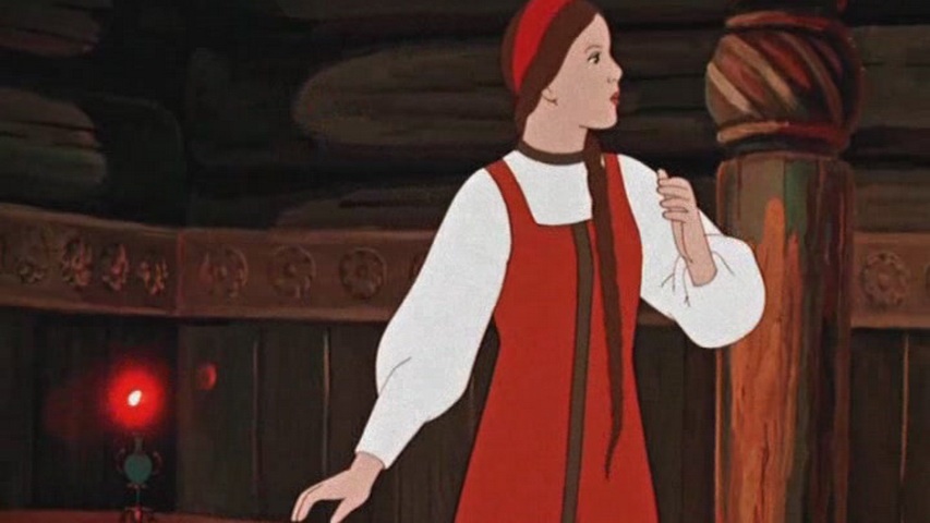 Кадр из мультфильма «Аленький цветочек»