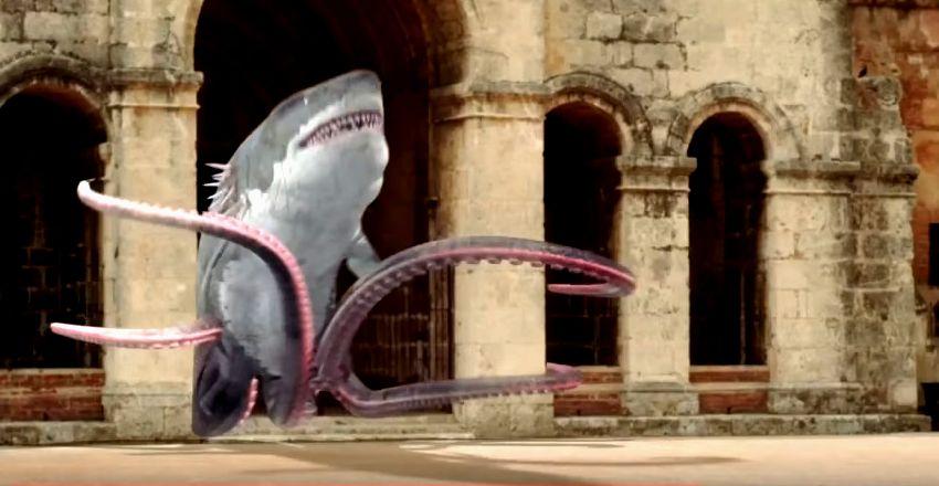 Кадр из фильма «Акулосьминог против китоволка»