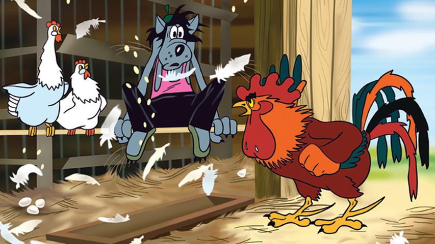 Кадр из мультфильма «Ну, погоди!»