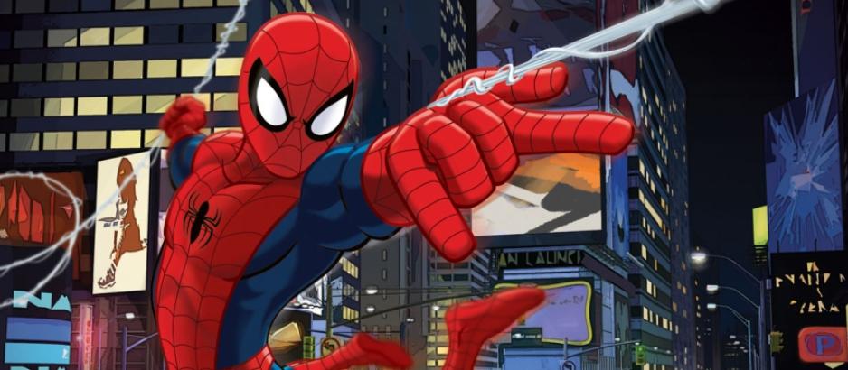 Человек паук  из мультика