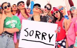 Кадр из клипа «Sorry»