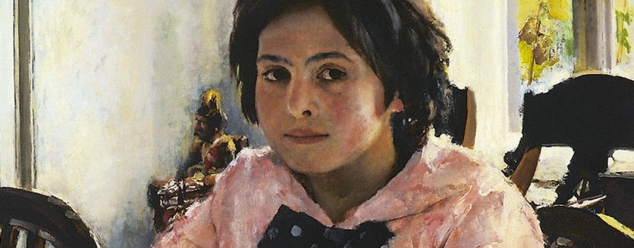 Фото картины Серова «Девочка с персиками» с сайта rambler.ru