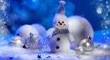 Фото снеговика с сайта desktopwallpapers.ru