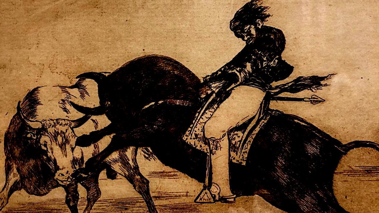 Работа с выставки «Коррида. Бой быков» с сайта akg-images.fr