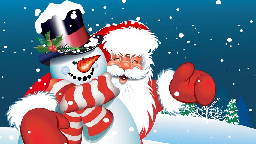 Снеговик и Дед Мороз. Изображение с сайта studio-decorator.ru