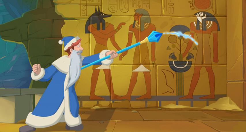 Кадр из фильма «Три Богатыря и Принцесса Египта»