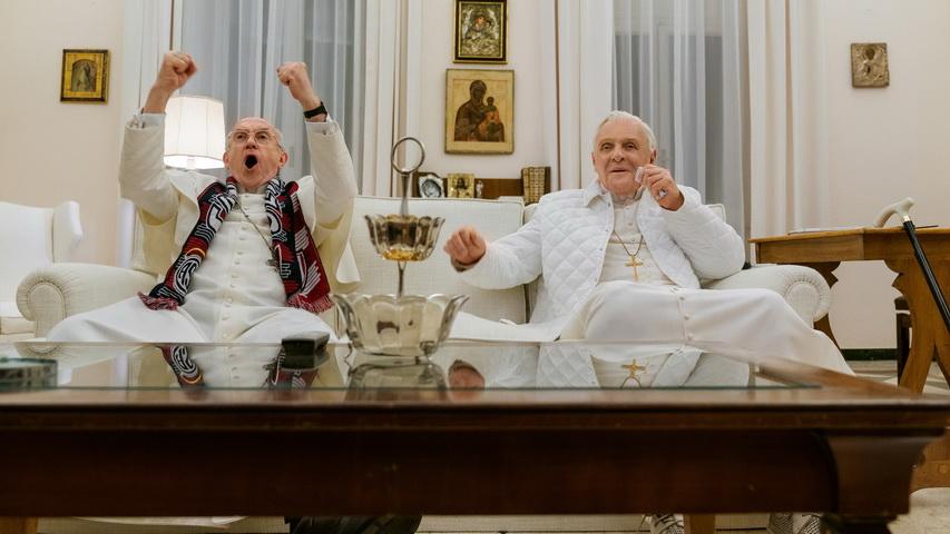 Кадр из фильма «Два Папы»