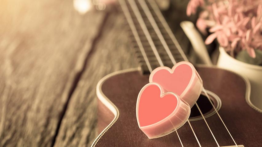 Гитара и цветы. Фото с сайта 1zoom.me