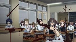 Кадр из аниме Another