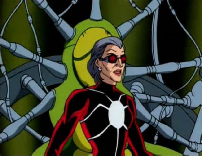 Кадр из мультсериала о Человеке-пауке