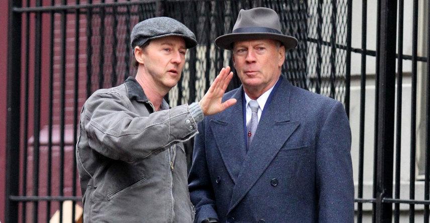 Кадр со съемок фильма «Сиротский Бруклин»