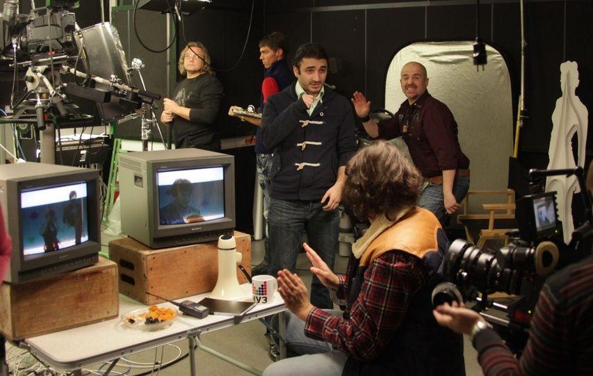 На съемках фильма «Беременный». Фото с сайта kinopoisk.ru