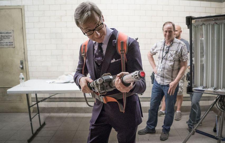Пол Фиг на съемках фильма «Охотники за привидениями». Фото с сайта kinopoisk.ru