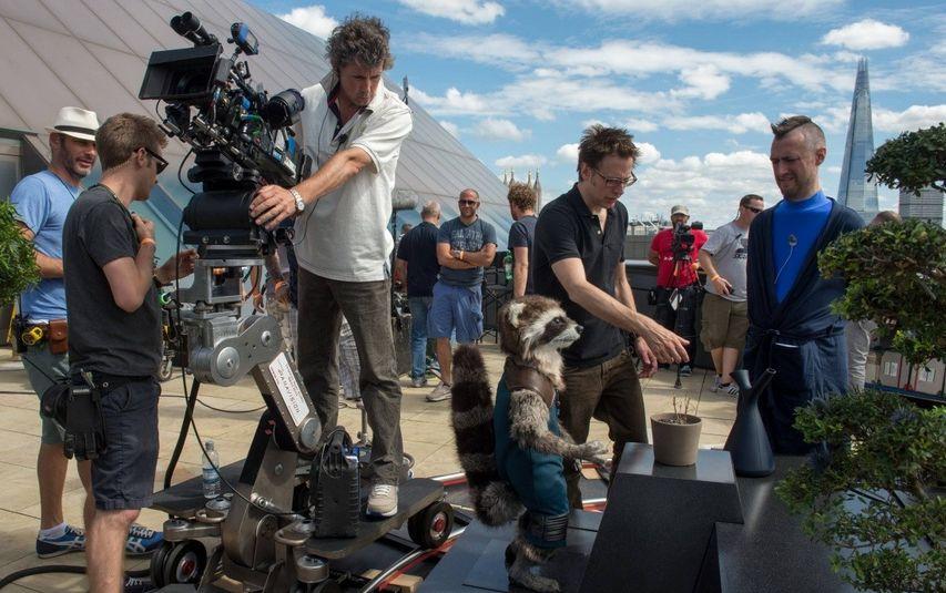 Джеймс Ганн на съемках «Стражей Галактики». Фото с сайта kinopoisk.ru