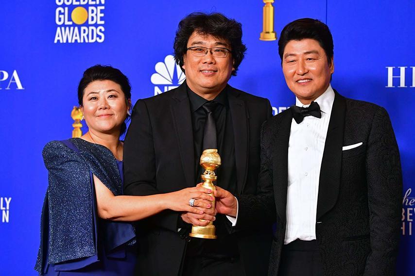 Режиссер и актеры «Паразитов». Фото с сайта imdb.com