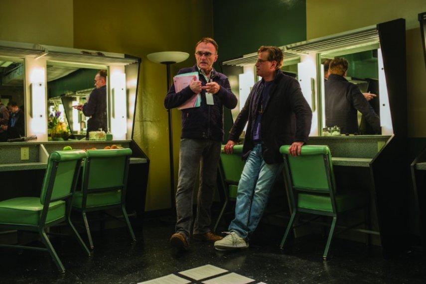 Бойл и Соркин на съемках «Джобса». Фото с сайта imdb.com