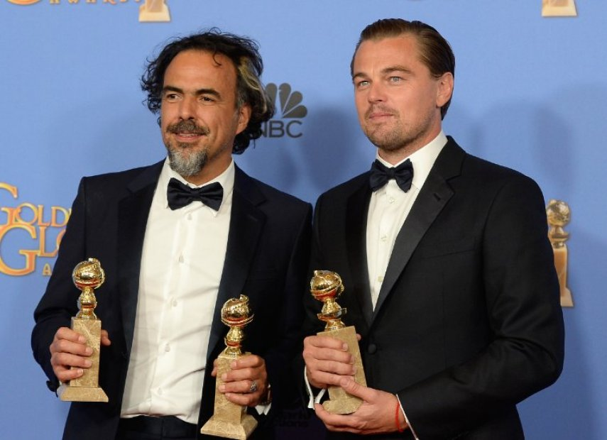 Иньярриту и ДиКаприо. Фото с сайта imdb.com
