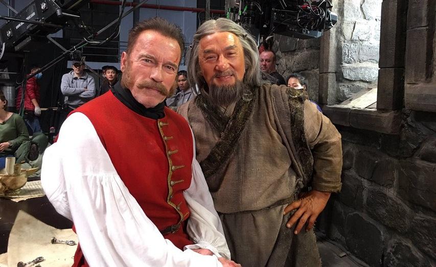 На съемках фильма «Тайна печати дракона». Фото с сайта kinopoisk.ru