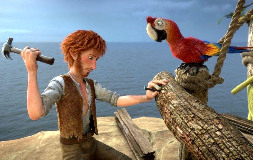 Кадр из мультфильма «Робинзон Крузо. Очень обитаемый остров»
