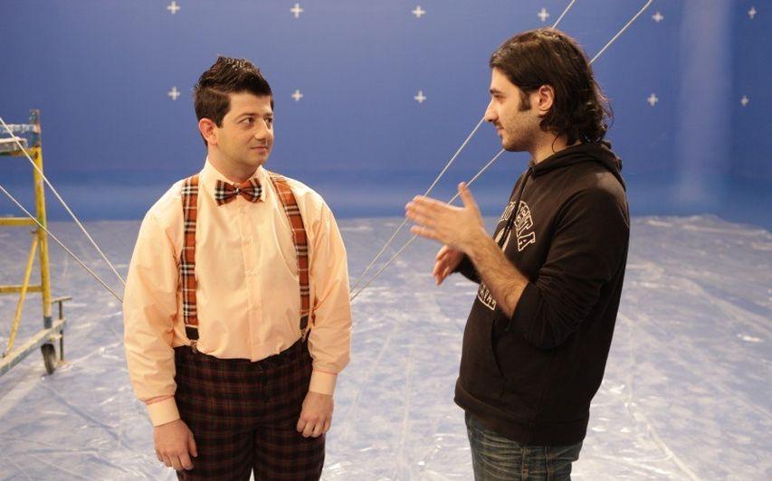На съемках фильма «Тот еще Карлосон». Фото с сайта kinopoisk.ru
