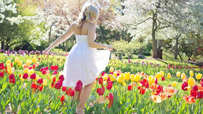 Девушка и тюльпаны. Фото с сайта rosemer.tokyo