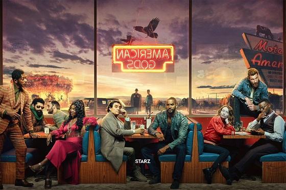 Постер сериала «Американские боги»