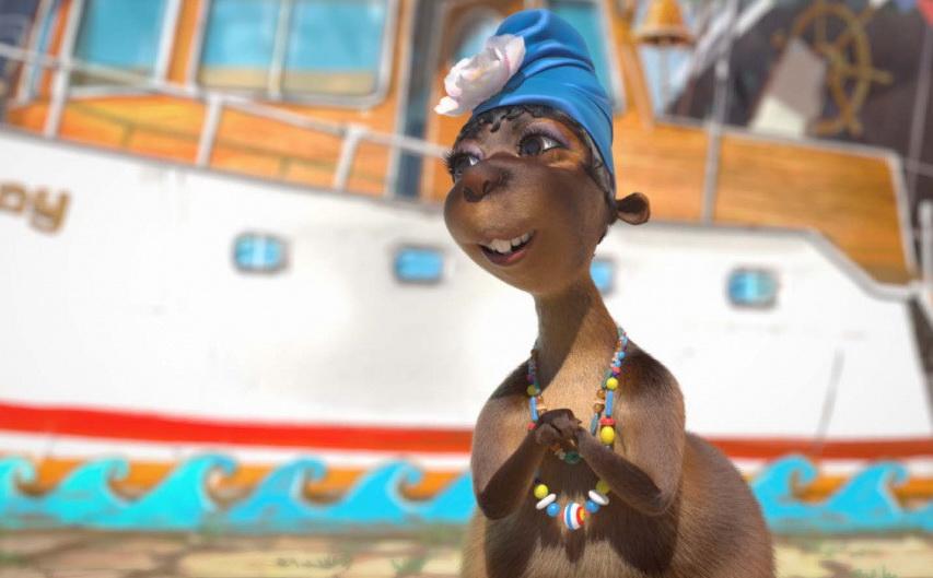 Кадр из мультфильма «Белка иСтрелка: Карибская тайна»