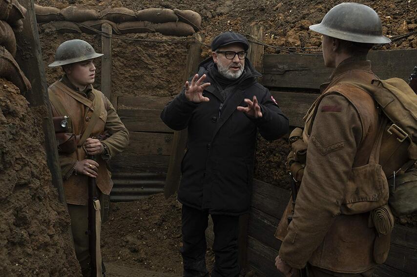 Сэм Мендес на съемках «1917». Фото с сайта esquire.ru