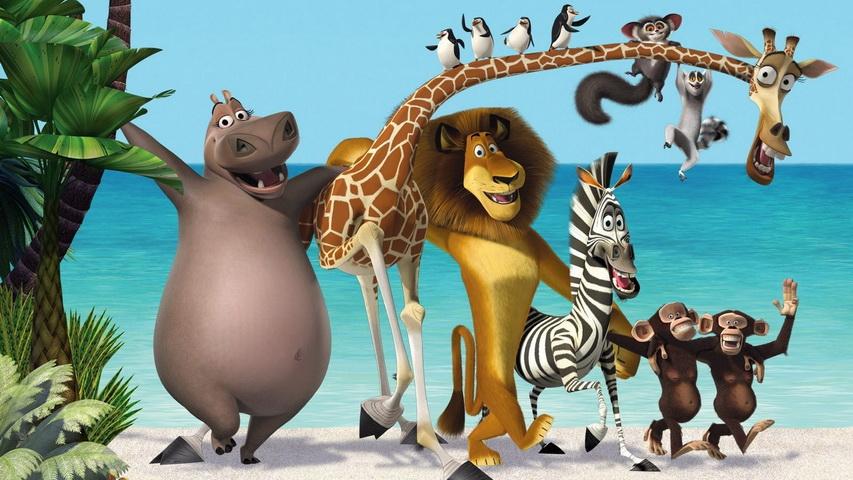 Кадр из мультфильма «Мадагаскар»