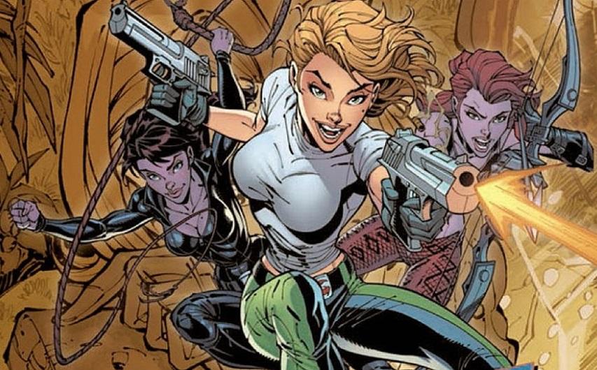 Кадр из комикса «Опасная девушка»