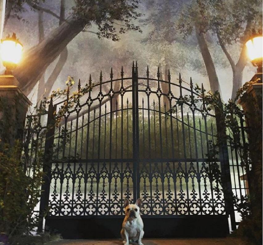 На съемках фильма «Дом с часами на стене». Фото из Инстаграм Элая Рота