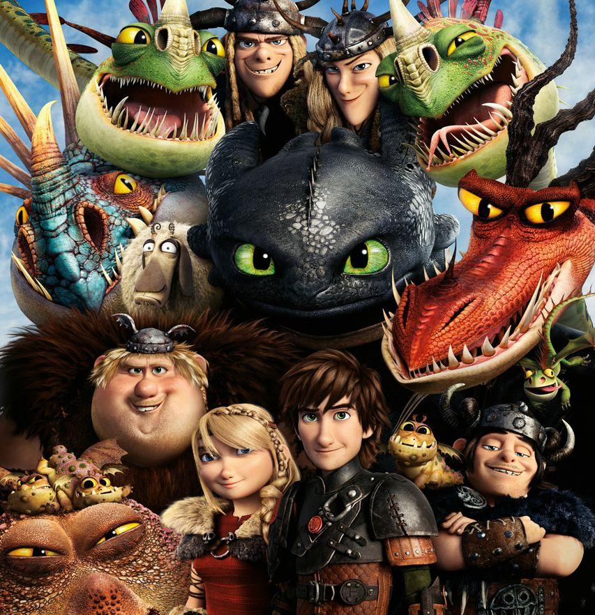Постер мультфильма «Как приручить дракона»