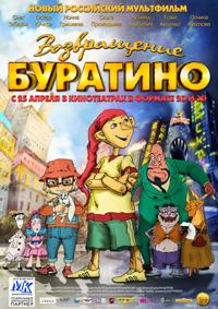 Постер фильма «Возвращение Буратино»
