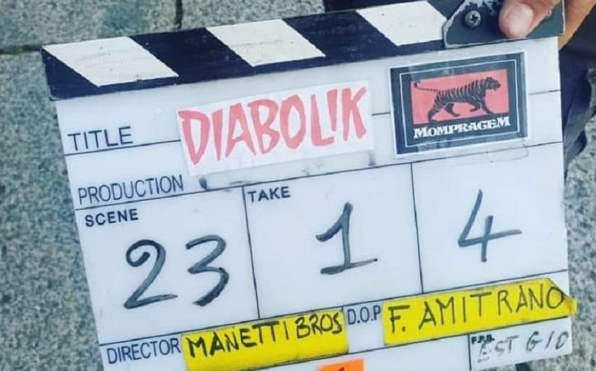На съемках фильма «Дьяболик». Фото из Инстаграм