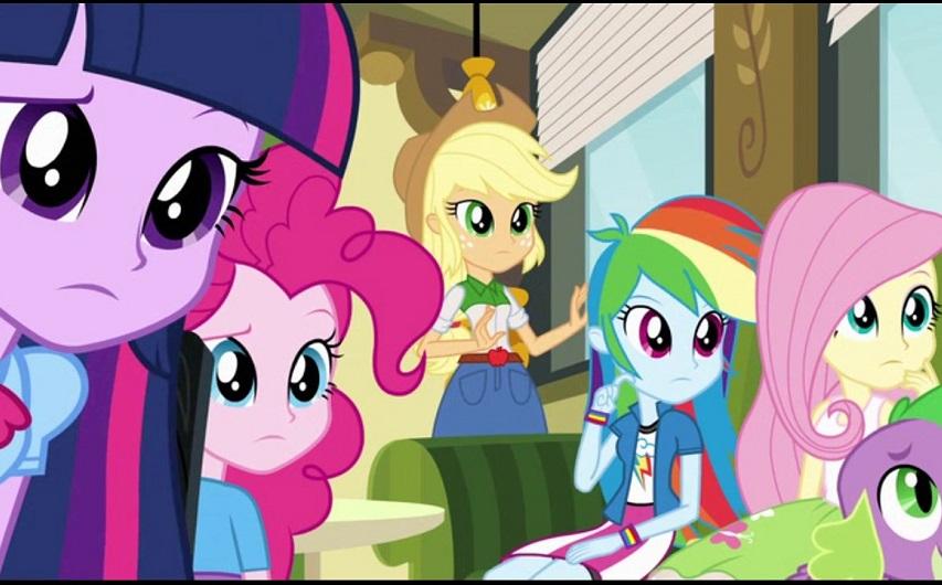 Кадр из мультфильма «Мой маленький пони: Девочки из Эквестрии»