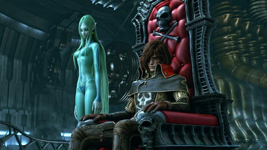 Кадр из мультфильма «Космический пират Харлок»