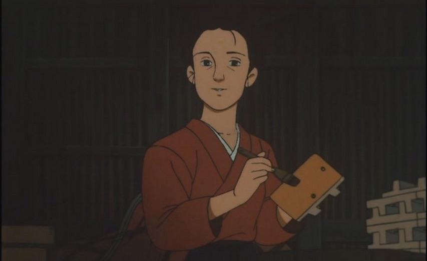 Кадр из мультфильма «Босоногий Гэн»