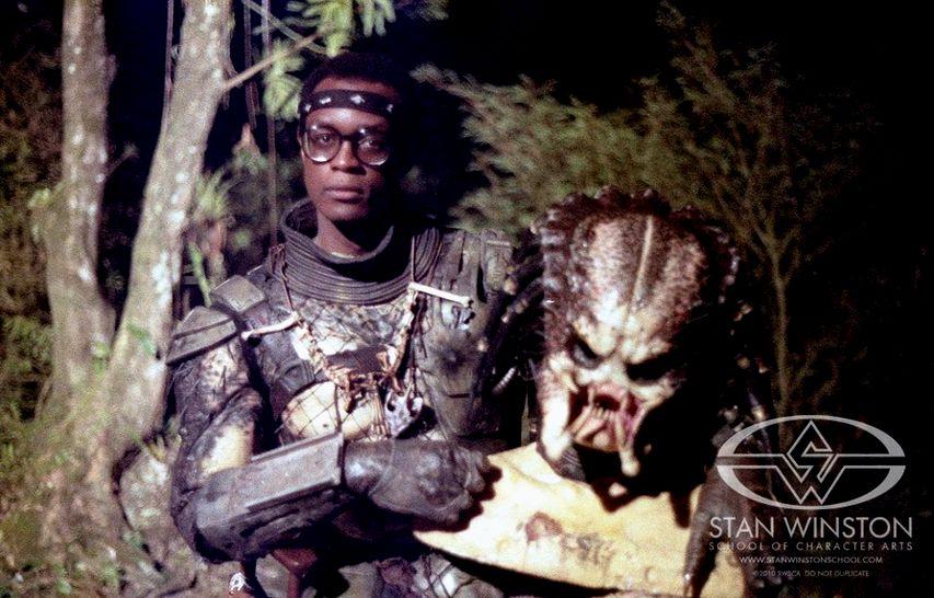 Кевин Питер Холл на съемках «Хищника». Фото с сайта gizzeta.it