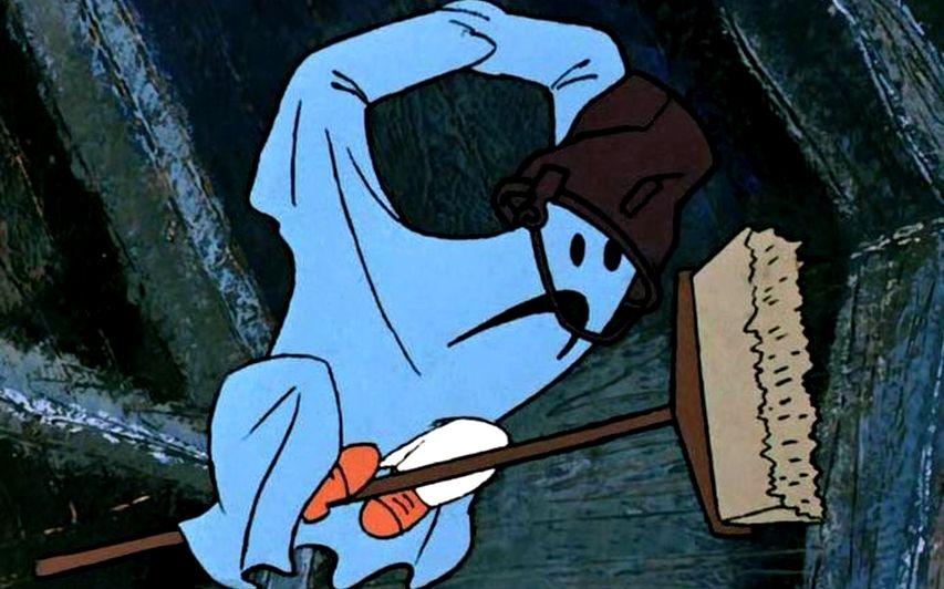 Кадр из мультфильма «Карлсон. который живет на крыше»