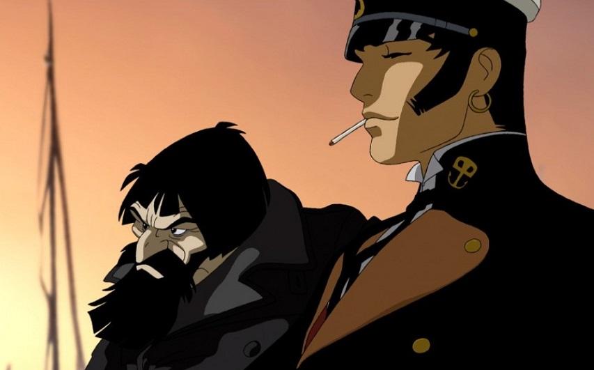 Кадр из мультфильма «Корто Мальтез: Погоня за золотым поездом»