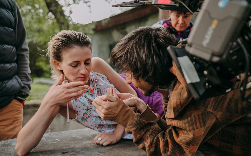 На съемках фильма «Латифа». Фото из аккаунта Вконтакте Рината Ташимова